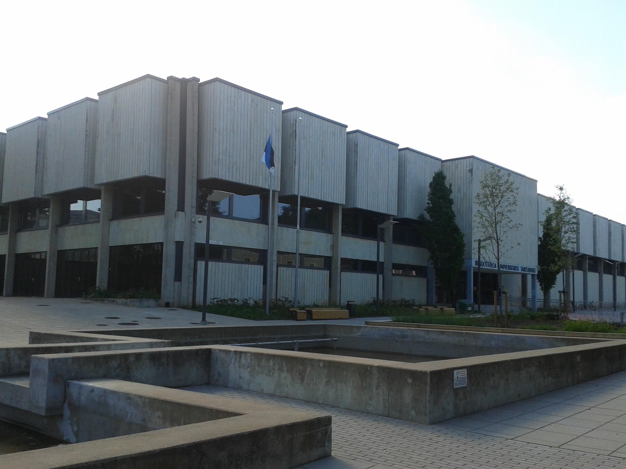 The Tartu University Library main building in 2017.