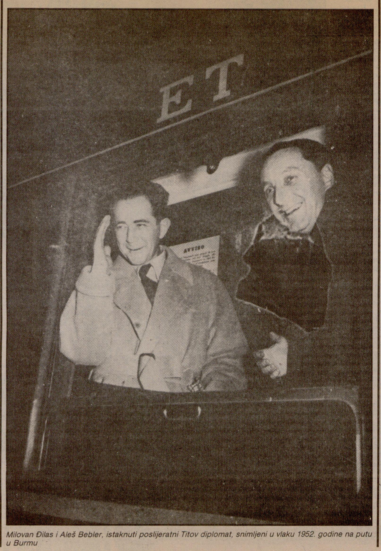 Milovan Djilas in 1952. (HR-HDA-2031. Vjesnik, Public persons, Milovan Djilas personal file)