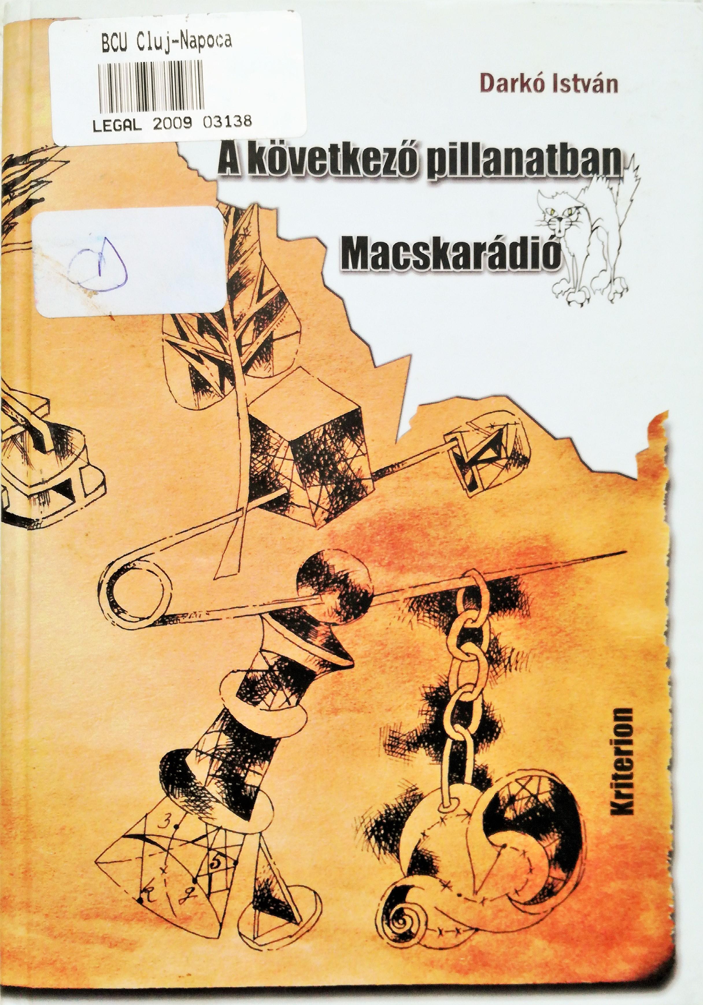 A következő pillanatban – Macskarádió című könyv fedőborítója