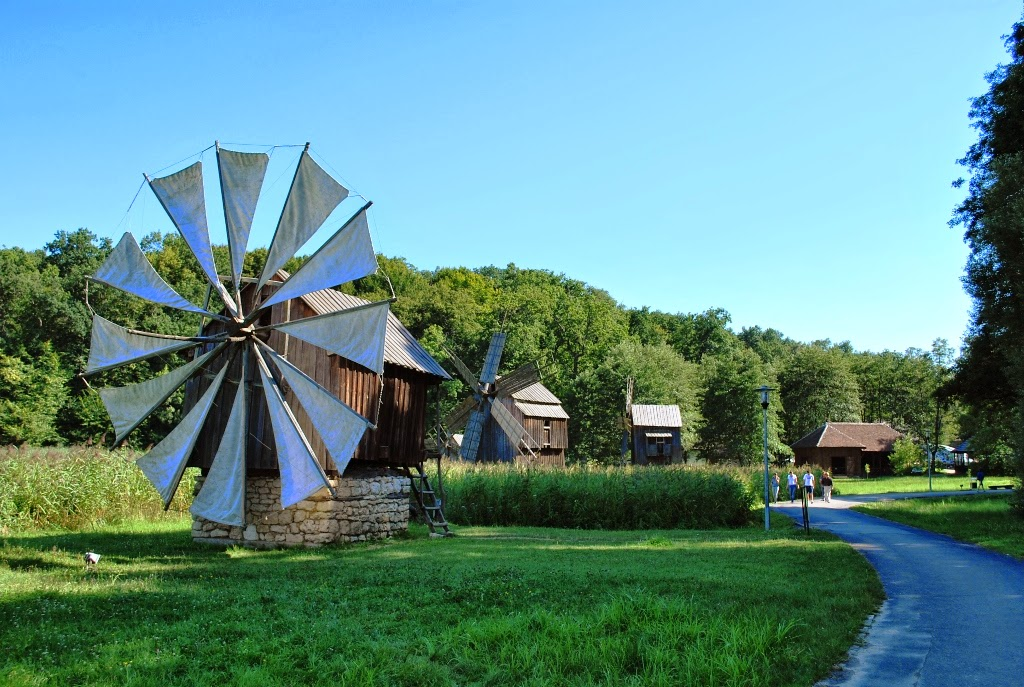 Windmills from Dobrogea from the open-air permanent exhibition of ASTRA Museum