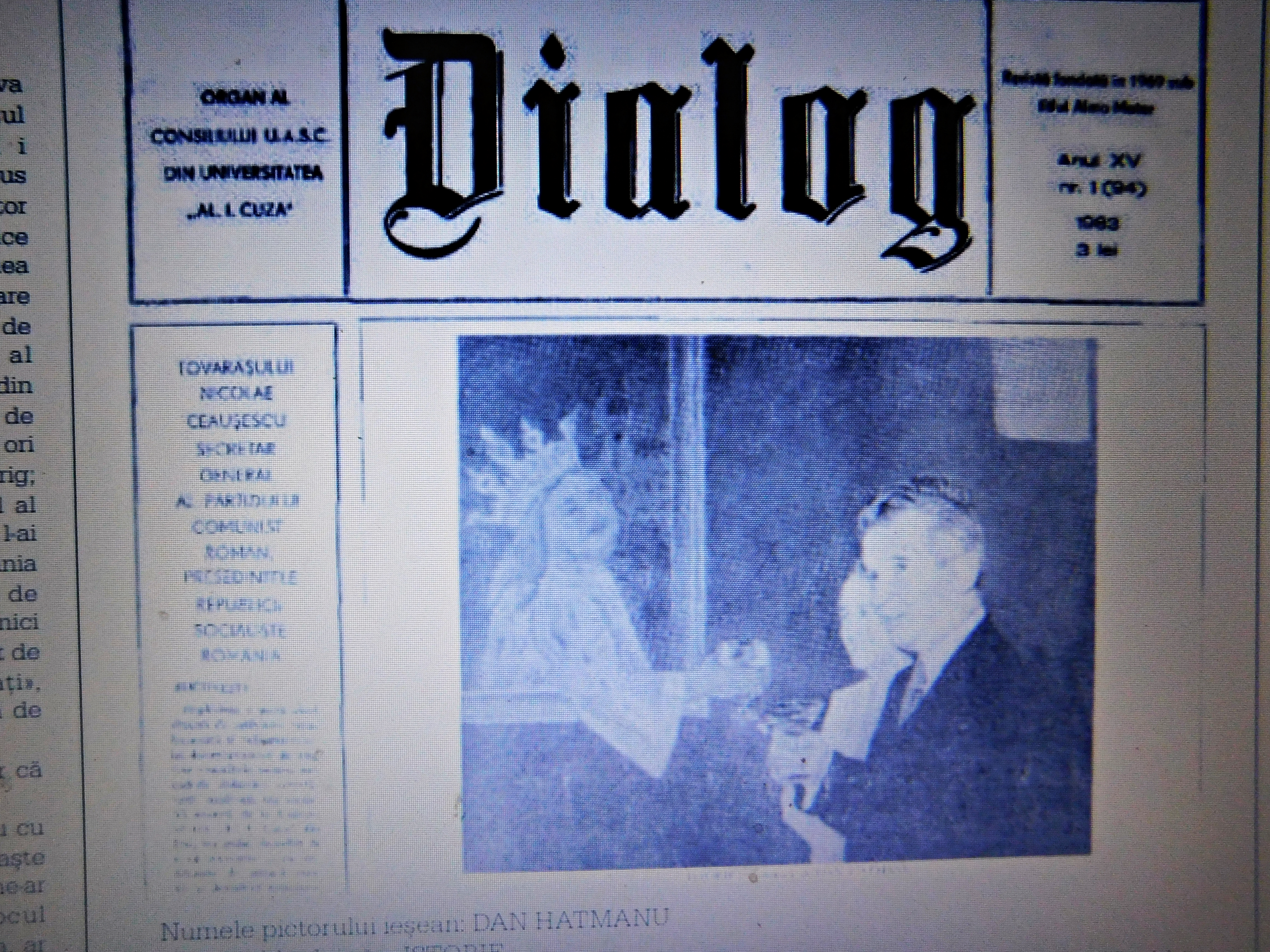 Front page of student magazine Dialog of January 1983