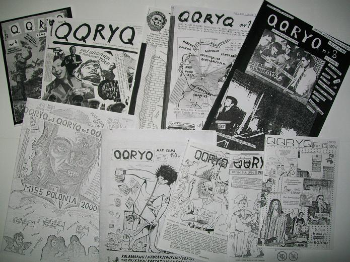 The image presents a packet of the fanzine 'QQRYQ' issues from the second half of the 1980s. decade.